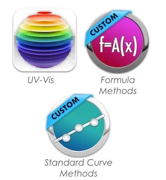 UV-Vis quantification Software icons