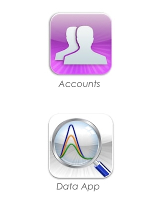 User account and data handling app