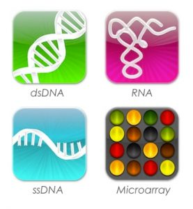nucleic acid quantification software icons