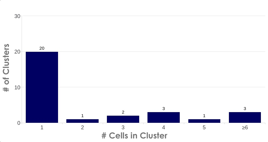 Counting clustered nuclei